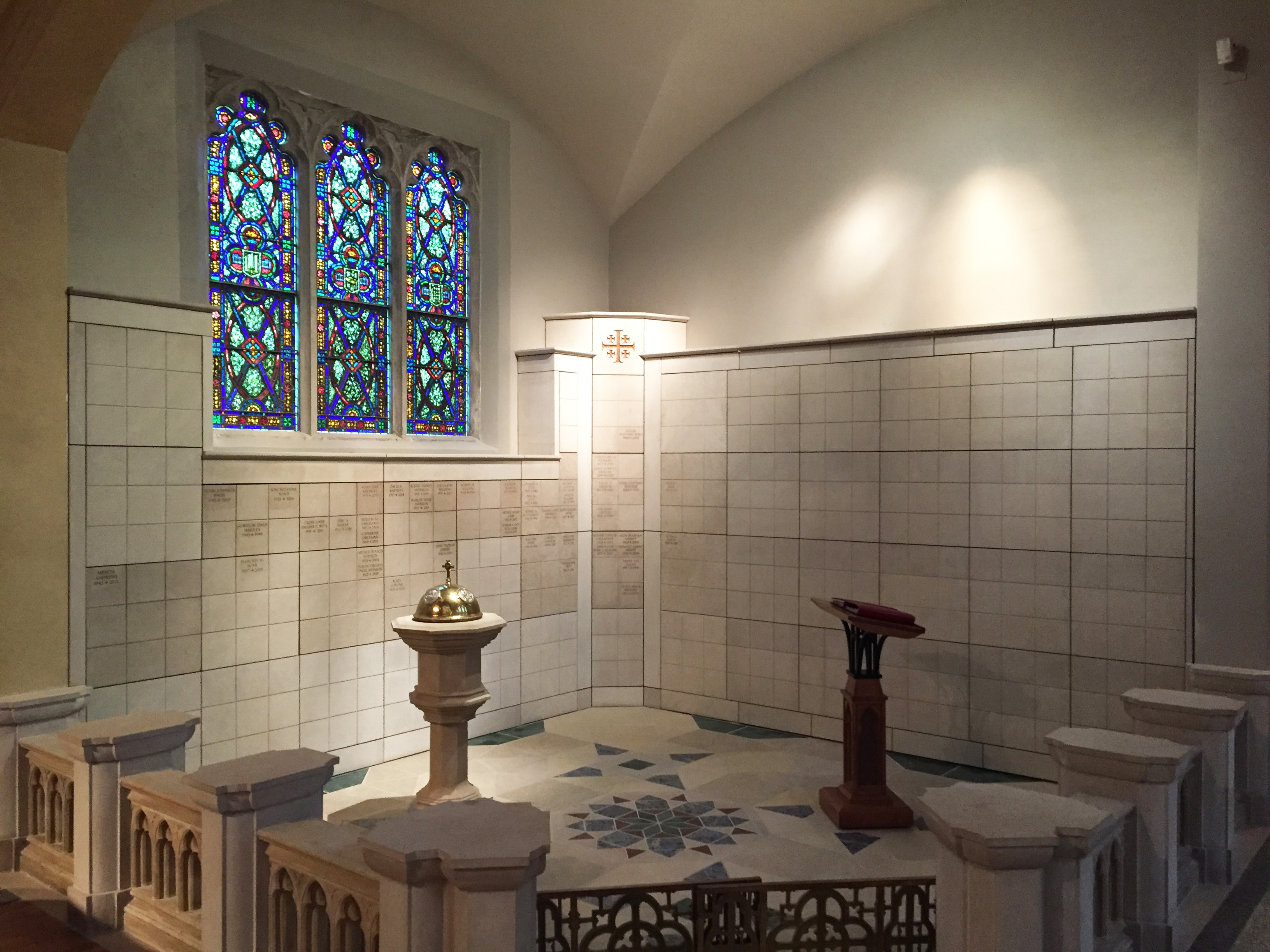Columbarium Luther Memorial Church Madison Wisconsin